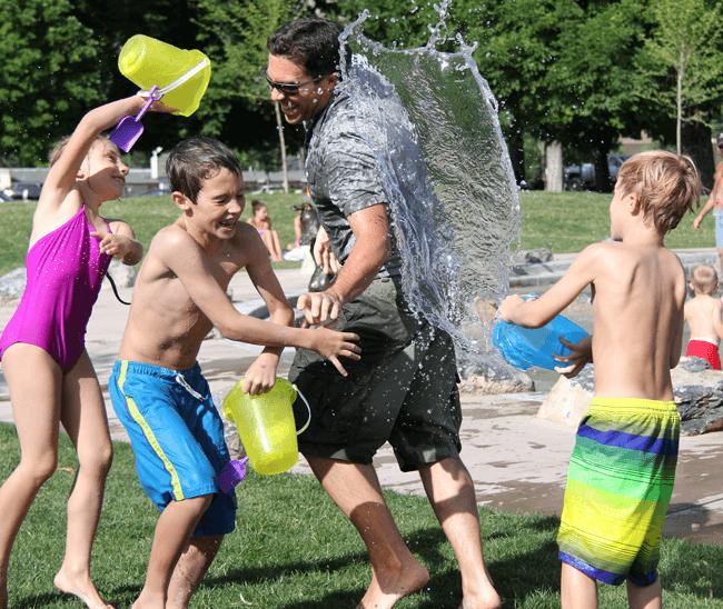 Организуйте водяную войну