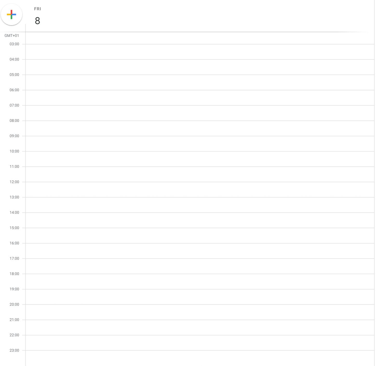 План работы на день пустой: времени куча