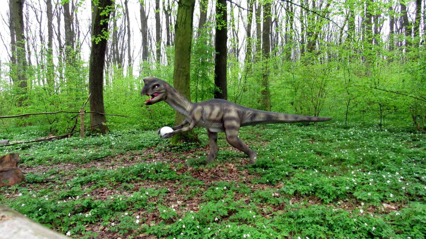 Злой динозавр в Берегово