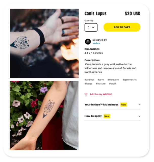 Татуировки в интернет магазине